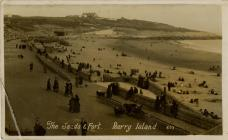 The Sands & Fort. Barry Island.