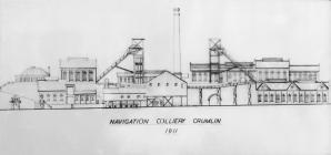 Crumlin Navigation colliery sketch 1911