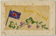 Embroidered Postcard ' Forget me not '