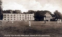 The cricket ground at Trinity College, Carmarthen