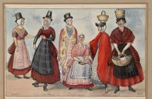 Welsh Costume: K.E., South Wales, 1870-1899
