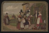 Welsh Costume: A Welsh Bidding, 1850-1870