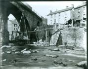 Image from c1900 showing works to extend Mill...