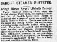 Cardiff Steamer Buffeted