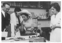 Princess Margaret visiting a Tenvous Cancer...