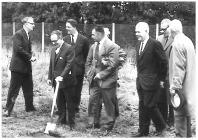 Tenovus Institute Cardiff - cutting the soil 1964