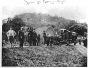 Threshing machine at Pen-y-Bryn farm, Bangor