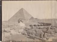 The Great Pyramid and Sphinx of Giza, with &...