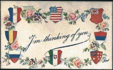 Blank well-wishing card from the First World War