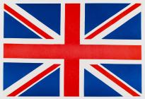 Nos Galan flag - Union Jack, handed to crowds 1971