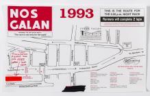 Nos Galan Route Map, 1993