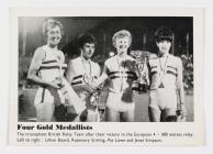 Nos Galan photograph of four medalists in the...