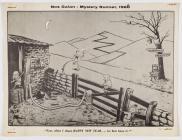 Nos Galan, Mystery Runner cartoon plaque, 1968