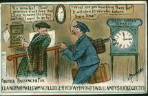 Cerdyn post oddi wrth 'R. W.' at William...