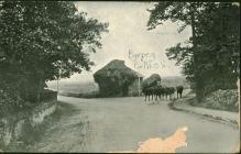 Postcard from Catherine Ann Thomas, Rhydyclafdy...