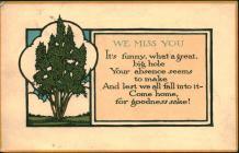Postcard from 'Rhoda', Bodfean, to...