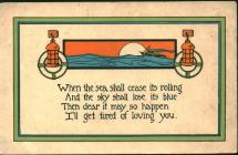 Postcard from 'R[hoda]' to William...