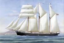 Schooner ELIZABETH ELEANOR of Porthmadog sunk...