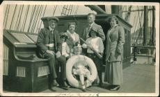 Group photograph taken on board the BELFORD...