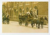 TWO Horse Drawn Carts outside Albert Road...