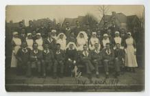 Photograph of hospital staff and patients at St...