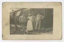 Photograph of Soldiers with Nurse Annie Jones...