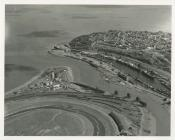 Aerial view of Penarth Docks and Ely Harbour