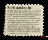 Newspaper clipping about Boris Giltburg, winner...