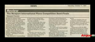 Newspaper clipping about the Newport...