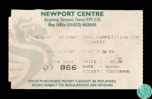 Ticket to the Newport International Competition...