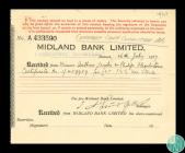 Receipt for war stock received by Midland Bank...