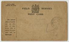 A series of WW1 Field Service Postcards sent...