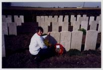 WW1 grave of Sgt John Regan from Penarth