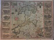 Speed Map of Wales  dated 1610