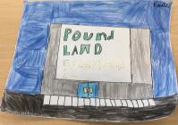 Poundland hand drawing