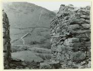 View of an old quarry incline above Cwm y Llan
