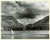 View across Padarn Lake