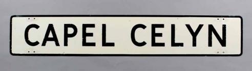 Arwydd ffordd Capel Celyn