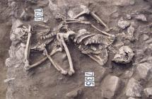 Human remains at Llanbedr-goch