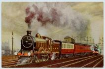 Postcard of a Train.
