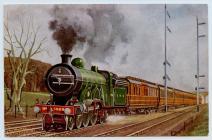 Cambrian Postcard, GNR 4-4-2 No 1459.