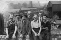 Workers at Pontardawe Steel Works