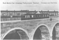 Gwaun-cae-gurwen, Rail Motor Car crossing...
