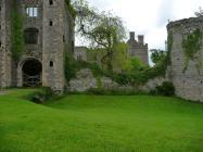 Walkng toward Pencoed Castle 2009