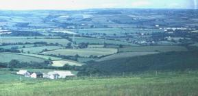 View from Pantyrhuad hill-top 1968