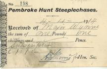 Pembroke Hunt Steeplechases 1914