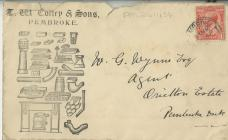 Envelope from T. M. Colley undated