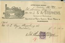 Anfoneb gan J ac A Stephens Penfro 1901