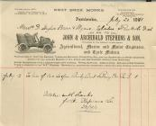 Invoice from John and Archibald Stephens and...