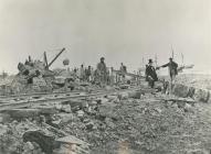 Construction of Penarth Docks.